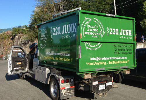 brads junk removal truck