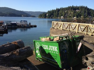 Emptied out a barge in Deep Cove, BC