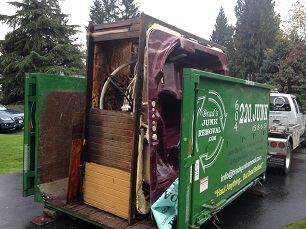 Brad's junk removing an old Hot tub in Burnaby, BC