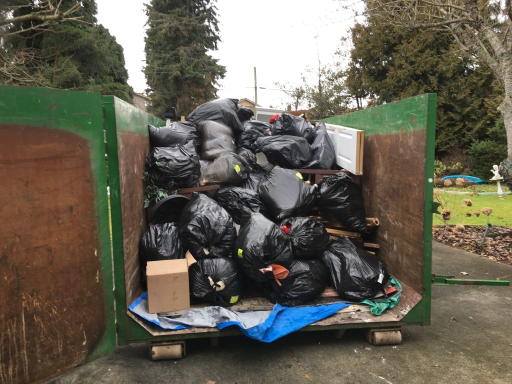 tightly packed trash in West Richmond